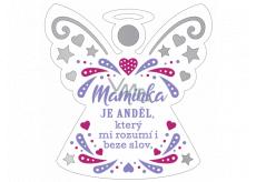 Albi Hanging plaque angel Mother 9 x 10 cm