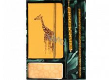 Albi Writing set Giraffe small notebook + pen + pencil + self-adhesive pad