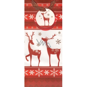 Alvarak Gift paper bag for a bottle 36 x 12.5 x 9 cm reindeer 1 piece