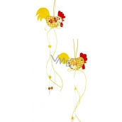 Kohoutek žlutobílý 38 x 7cm