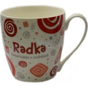 Nekupto Twister mug named Radek red 0.4 liter