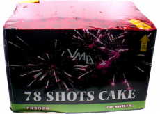 78 Shots Cake compact pyrotechnics CE3 78 rounds III. Danger classes for sale from 21 years!