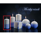 Lima Aromatic spiral Sea breeze candle white - blue cylinder 50 x 100 mm 1 piece