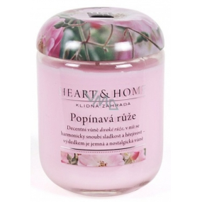 Heart & Home Climbing rose Large soy scented candle burns up to 70 hours 310 g