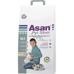 Asan Pet Silver litter for dwarf rabbits and rodents 12 l
