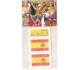 Arch Tattoo decals for face and body Spain Espana flag 2 motifs