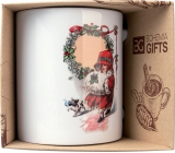 Bohemia Gifts Ceramic mug with a picture of a little girl and Christmas 350 ml