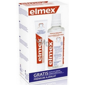 Elmex Caries Protection Mouthwash 400 ml + Caries Protection with amine fluoride toothpaste 75 ml, duopack