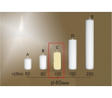 Lima Gastro smooth candle ivory cylinder 40 x 100 mm 1 piece