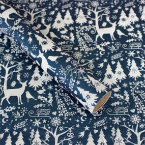 Zöwie Gift wrapping paper 70 x 150 cm Christmas Nordic blue