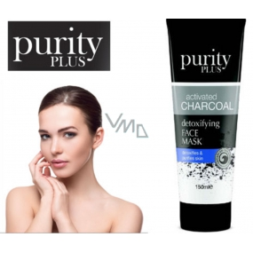 Purity Plus Activated Charcoal Active Charcoal 100 ml detoxifying and cleansing face mask
