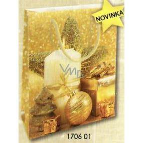 Nekupto Gift Paper Bag Medium 23 x 18 x 10 cm Christmas 1706 01 WBM