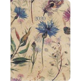 Albi Diary 2020 weekly Meadow flowers 17 x 12,5 x 1,2 cm