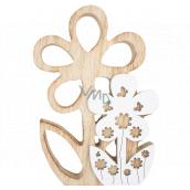 Wooden flower for standing 18 cm