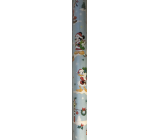 Ditipo Gift wrapping paper 70 x 200 cm Christmas Disney Mickey Minnie duck Donald light blue