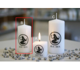Lima Horoscope Virgo candle cylinder 50 x 100 mm 1 piece