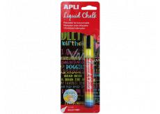 Apli Chalk marker round tip yellow 5.5 mm