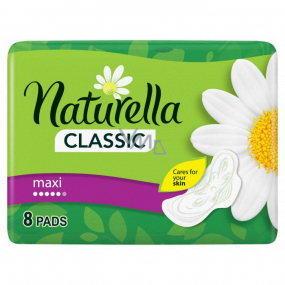 Naturella Classic Maxi sanitary pads with the scent of chamomile and wings 8 pieces