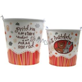 Nekupto Gift box for flowerpot medium From friendship diameter 14 cm 1 piece