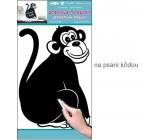 Sticker writing table with chalk monkey 49 x 29 cm 1 arch
