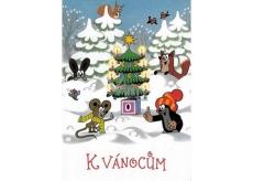 Albi Envelope Playing Card Christmas Mole Silent Night 14.8 x 21 cm