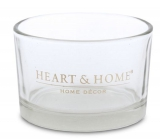 Heart & Home Candlestick for a candle in a bowl 7.5 x 4.5 cm