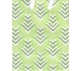 Nekupto Gift paper bag small 14 x 11 x 6.5 cm Green