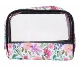 Albi Original Cosmetic Bag with Hydrangea Window 18 cm x 14 cm x 6.5 cm