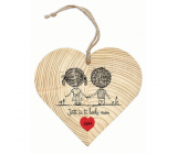 Bohemia Gifts Wooden decorative heart with print I still love you 12 cm