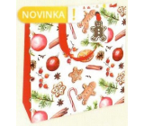 Nekupto Gift paper bag luxury 23 x 23 cm Gingerbread Christmas WLIM