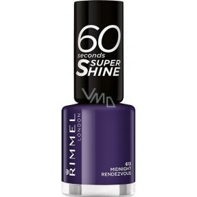Rimmel London 60 Seconds Super Shine Nail Polish 613 Midnight Rendezvous 8 ml