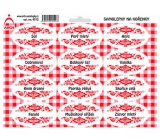 Arch Spice Stickers with Red Ornament Salt - Basic Spices 0312