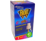 Biolit Family Elektrický odpařovač proti komárům náhradní náplň 45 nocí 27 ml