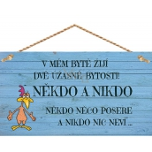 Bohemia Gifts Decorative painting for hanging Someone and no one ... 13 x 24 cm