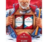 Old Spice White Water shower gel 250 ml + deodorant spray 150 ml, cosmetic set for men