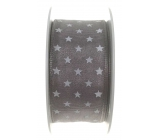 Ditipo Nordic ribbon gray white stars 2 mx 25 mm