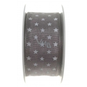 Ditipo Nordic ribbon gray white stars 2 mx 25 mm