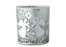 Albi Christmas glass candlestick - angels 7 cm