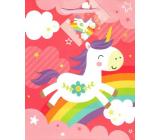 Ditipo Gift Paper Bag Medium Pink Unicorn 18 x 23 x 10 cm