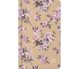 Albi Diary 2022 Pocket weekly Cherry blossom 15.5 x 9.5 x 1.2 cm