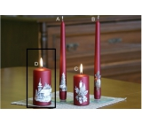 Lima Relief winter candle metal wine cylinder 60 x 120 mm 1 piece