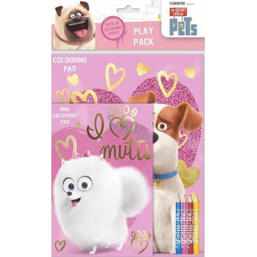 The Secret Life of Pets Play Pack Painting set with 4 pieces of crayons