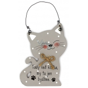 Nekupto Pets Wooden sign Here leads the cat 12 x 8.5 cm