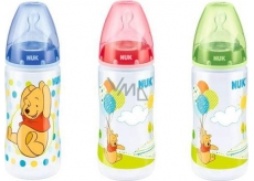 Nuk First Choice Disney Pú silikonové pítko 0-6 měsíců láhev plastová 300 ml