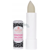 Amorous toning luxury lip balm with glitter, smell of cherry, No.09 - white, 4.2g