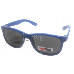 Children sunglasses KK4015A blue black glass
