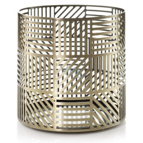 YC.Crosshatch Brass / Glass Candle