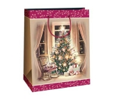 Ditipo Gift kraft bag 22 x 10 x 29 cm Christmas tree, rocking chair