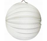 Lantern round white 21 cm