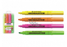 Centropen Highlighter 8552 1-4 mm in case, 4 colors